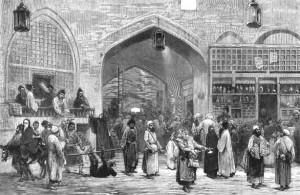 Großer Basar von Teheran (Darstellung von 1873)